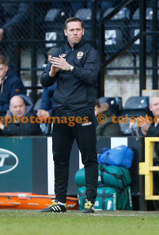 Notts County Manager Kevin Nolan during the Sky Bet League 2 match between Notts County and Crawley Town at Meadow Lane in Nottingham. January 28, 2017.<br /> James Boardman / Telephoto Images<br /> +44 7967 642437