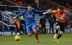 Liam Shephard of Peterborough United in action with Ben Coker of Southend United - Mandatory by-line: Joe Dent/JMP - 03/02/2018 - FOOTBALL - ABAX Stadium - Peterborough, England - Peterborough United v Southend United - Sky Bet League One