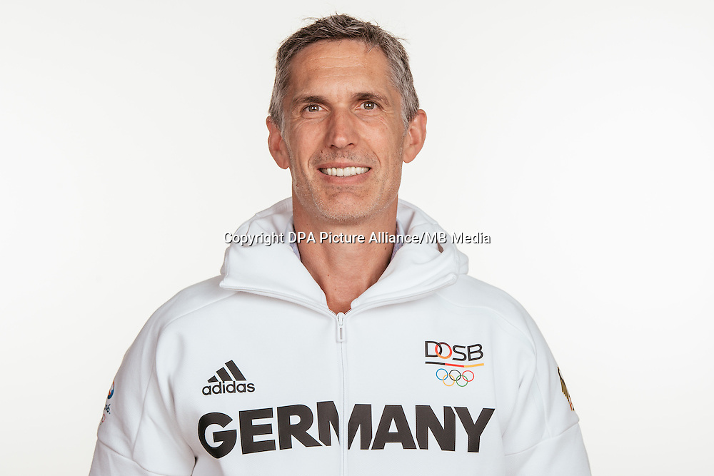 Ralf Benkow poses at a photocall during the preparations for the Olympic Games in Rio at the Emmich Cambrai Barracks in Hanover, Germany, taken on 12/07/16   usage worldwide