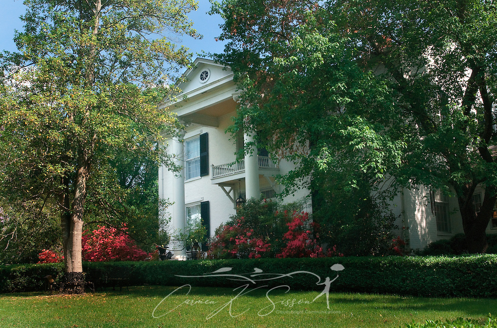 Rosewood Manor in Columbus, Miss. April 16, 2010. The 1835 Greek-Revival antebellum mansion was among nearly two dozen on tour during Columbus' annual Spring Pilgrimage. (Photo by Carmen K. Sisson/Cloudybright)