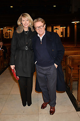 JOHN SWANNELL and his wife MARIANNE at a reception and debate to celebrate the publication of  'Women in Waiting, Prejudice at the the Heart of the Church' by Julia Ogilvy held at St.James's Church, 197 Piccadilly, London on 11th March 2014.