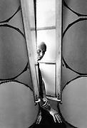 Vincent Corpet, artiste, dans son atelier, Marseille, 1992