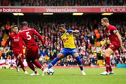 Mario Lemina of Southampton takes on Georginio Wijnaldum of Liverpool - Mandatory by-line: Robbie Stephenson/JMP - 22/09/2018 - FOOTBALL - Anfield - Liverpool, England - Liverpool v Southampton - Premier League