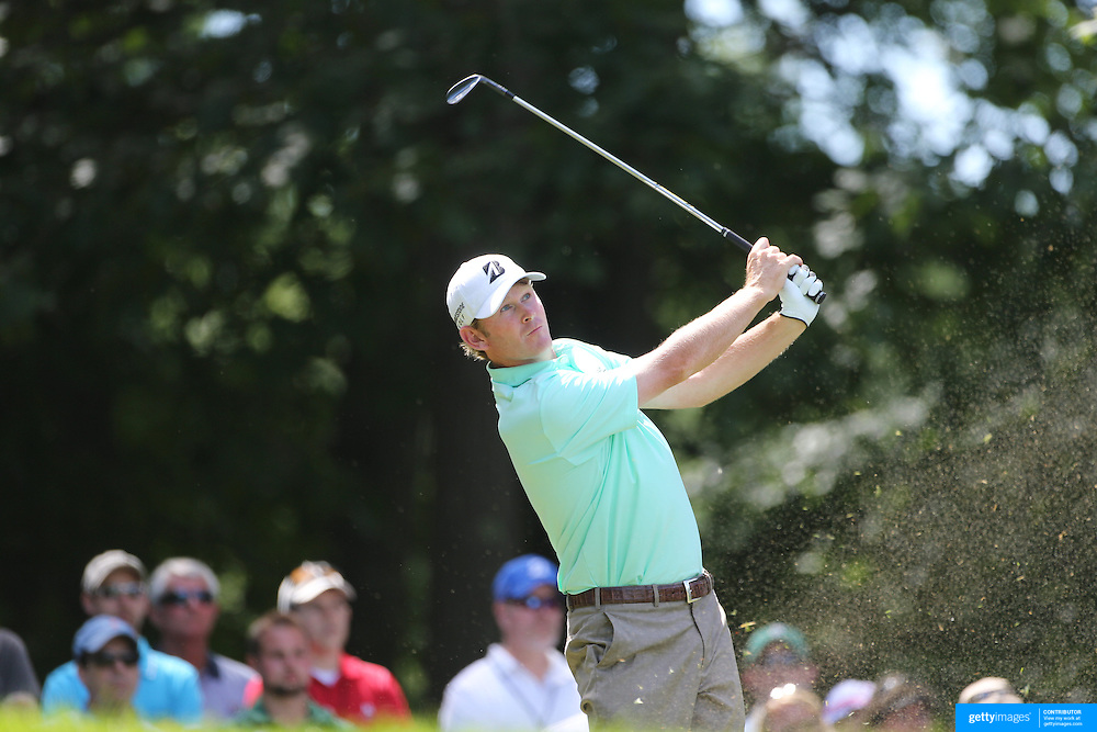 Brandt Snedeker, USA, in action during the third round of the Travelers Championship at the TPC River Highlands, Cromwell, Connecticut, USA. 21st June 2014. Photo Tim Clayton