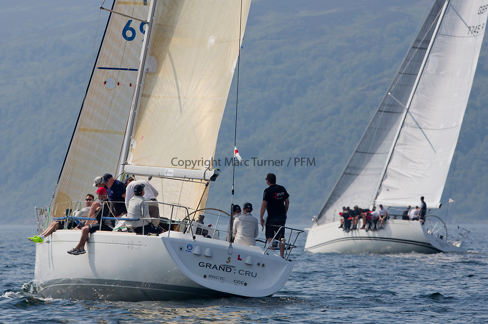 Silvers Marine Scottish Series 2017<br /> Tarbert Loch Fyne - Sailing<br /> <br /> GBR6969T, Grand Cru, Steve Cowie, RGYC, First 40.7