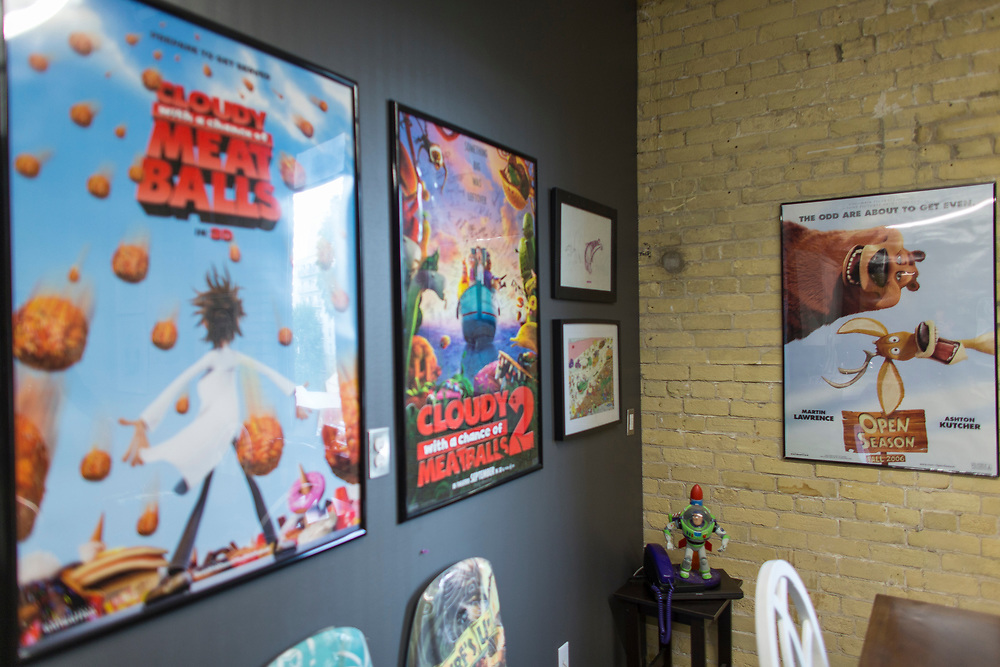 Movie posters hang around the office at Bron Studio in London Ontario, Wednesday,  September 6, 2017.<br /> Business London/ Geoff Robins