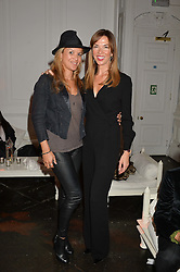 Left to right, LISA MOORISH and HEATHER KERZNER at White by Agadir hosted by the Moroccan National Tourist Office to celebrate the White City in Morocco in the presence of H.H.Princess Lalla Joumala, Ambassador of HM The King of Morocco held at Il Bottaccio, 9 Grosvenor Place, London on 4th November 2014.