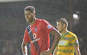 Vadaine Oliver during the Sky Bet League 2 match between York City and Yeovil Town at Bootham Crescent, York, England on 18 August 2015. Photo by Simon Davies.
