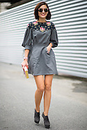 Gray Dress with Florals, Outside Dries van Noten