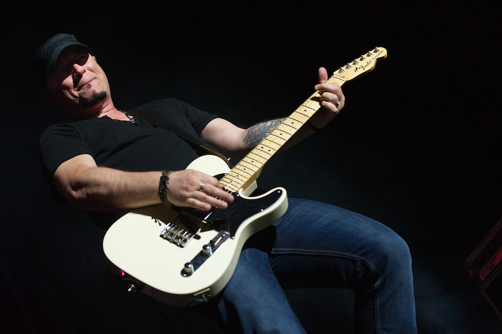 Jimmy Stafford of Train performs at White River Amphitheater on the last night of the bands Mermaids of Alcatraz tour. Photo by John Lill