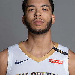Sep 24, 2018; New Orleans, LA, USA; New Orleans Pelicans forward Kenrich Williams (34) poses for a portrait during Media Day at Ochsner Performance Center. Mandatory Credit: Derick E. Hingle-USA TODAY Sports