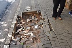 April 30, 2019 - SãO Paulo, Brazil - SÃO PAULO, SP - 30.04.2019: CALÇADA EM PÉSSIMAS CONDIÇÕES - Sidewalk in very bad conditions on Av. Augusta, in front of Augusta Park, this Tuesday (30) (Credit Image: © Roberto Casimiro/Fotoarena via ZUMA Press)