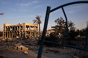 The Rafah Central Police headquarters complex lies in complete ruin in Rafah, Gaza January 15, 2009. In the 20 days since the Israeli assault of Gaza, the Israeli Defense Forces have significantly targeted Palestinian infrastructure and civil authorities including the police force which was under the control of HAMAS.  Photo by Scott Nelson/World Picture Network for the New York Times.