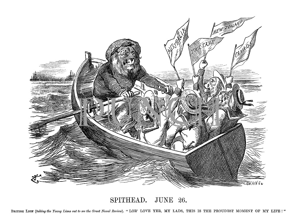 "Spithead. June 26. British Lion (taking the Young Lions out to see the Great Naval Review). ""Lor' love yer, my lads, this is the proudest<br />