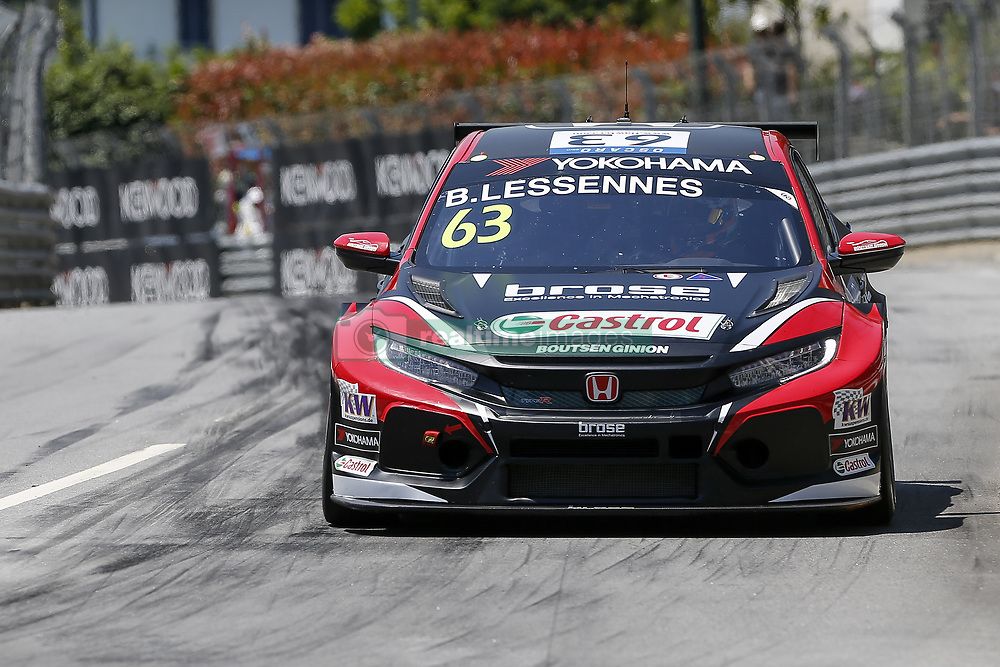 June 23, 2018 - Vila Real, Vila Real, Portugal - Benjamin Lessennes from Belgium in Honda Civic Type R TCR of Boutsen Ginion Racing during the Race 1 of FIA WTCR 2018 World Touring Car Cup Race of Portugal, Vila Real, June 23, 2018. (Credit Image: © Dpi/NurPhoto via ZUMA Press)