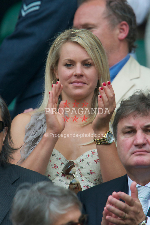 LONDON, ENGLAND - Saturday, June 26, 2010: Skiier Chemmy Alcott in the Royal Box on Centre Court on day six of the Wimbledon Lawn Tennis Championships at the All England Lawn Tennis and Croquet Club. (Pic by David Rawcliffe/Propaganda)