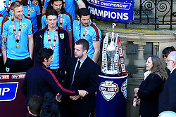 Burnley's Joey Barton is refused a winners medal by the Football League staff due to a mix up which was later resolved - Mandatory by-line: Matt McNulty/JMP - 09/05/2016 - FOOTBALL - Burnley Town Hall - Burnley, England - Burnley FC Championship Trophy Presentation