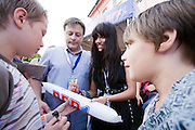 Mainz | 07.08.2010..Summer Music Festival of RPR 1 Radio Station in the german city of Mainz (Rhineland-Palatinate), picture shows pop singer Gabriella Cilmi from Australiawriting autographs for her little fans...RPR 1 Rheinland-Pfalz Open Air 2010 in Mainz, hier: Pop-Sängerin Gabriella Cilmi aus Australien schreibt Autogramme für ihre kleinen Fans...©peter-juelich.com..[No Model Release | No Property Release]