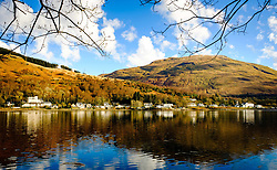 Spring sunshine on the village of Arrochar at the head of Loch Long, Scotland<br /> <br /> (c) Andrew Wilson | Edinburgh Elite media