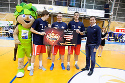 during Slovenian basketball All Stars Grosuplje 2013 event, on December 29, 2013 in Arena Brinje, Grosuplje, Slovenia. (Photo By Urban Urbanc / Sportida.com)