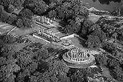 Aerial view of Medirigiriya ruins.