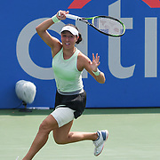 JESSICA PEGULA hits a forehand at the Rock Creek Tennis Center.