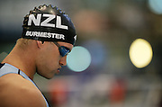 Moss Burmester before the Men's 200m Butterfly semi final at the at the New Zealand Swimming World Championship Trials at the West Aquatic Centre, Auckland, New Zealand, on Tuesday 12 December 2006. Photo: Hannah Johnston/PHOTOSPORT<br /> <br /> <br /> 121206