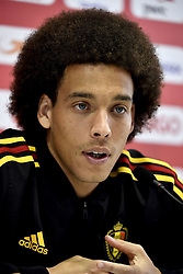 June 14, 2018 - Moscow, RUSSIA - Belgium's Axel Witsel pictures at a press conference of Belgian national soccer team the Red Devils in Moscow, Russia, Thursday 14 June 2018. The team is preparing for their first game at the FIFA World Cup 2018 next Monday. BELGA PHOTO DIRK WAEM (Credit Image: © Dirk Waem/Belga via ZUMA Press)