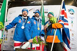POZZERLE Manuel, CAVICCHI Roberto, MOORE Ben, Snowboarder Cross, 2015 IPC Snowboarding World Championships, La Molina, Spain