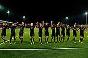 Players of AZ Almaar celebrate the victory , Guus Til of AZ Alkmaar, lireza Jahanbakhsh of AZ Alkmaar, Wout Weghorst of AZ Alkmaar, Jonas Svensson of AZ Alkmaar, Thomas Ouwejan of AZ Alkmaar, Fredrik Midtsjo of AZ Alkmaar, Teun Koopmeiners of AZ Alkmaar, Guus Til of AZ Alkmaar, Jeremy Helmer of AZ Alkmaar