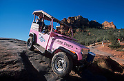 Pink Jeep Tour of red rock country includes steep trails, Sedona, Arizona..Subject photograph(s) are copyright Edward McCain. All rights are reserved except those specifically granted by Edward McCain in writing prior to publication...McCain Photography.211 S 4th Avenue.Tucson, AZ 85701-2103.(520) 623-1998.mobile: (520) 990-0999.fax: (520) 623-1190.http://www.mccainphoto.com.edward@mccainphoto.com.