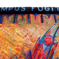 Europe, Germany, Berlin. Tempus Fugit Mural of the Berlin Wall.