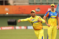 MS Dhoni of the Chennai Super Kings during the Superkings training session held at St Georges Park in Port Elizabeth on the 20 September 2010..Photo by: Shaun Roy/SPORTZPICS/CLT20
