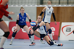 20180303 NED: Eredivisie Sliedrecht Sport - VC Sneek, Sliedrecht <br />Florien Reesink (5) of Sliedrecht Sport, Esther Hullegie (3) of Sliedrecht Sport <br />&copy;2018-FotoHoogendoorn.nl / Pim Waslander