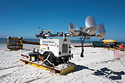 Redington Beach, Pinellas County, Florida, USA., Monday, 15th October, 2018, Beach Replenishment, Generator Pack and lights mounted on a sledge,