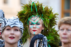 © Licensed to London News Pictures. 30/12/2019. London, UK. Performers from London School of Samba at the preview of the London New Year's Day Parade in Covent Garden Piazza.<br /> The London New Years Day Parade, in its 32nd year will take place on 1 January 2020 and will feature more than 10,000 performers from across the world. Photo credit: Dinendra Haria/LNP
