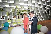 JENNIFER ESPOSITO; JIM ESPOSITO, 2016 SERPENTINE SUMMER FUNDRAISER PARTY CO-HOSTED BY TOMMY HILFIGER. Serpentine Pavilion, Designed by Bjarke Ingels (BIG), Kensington Gardens. London. 6 July 2016
