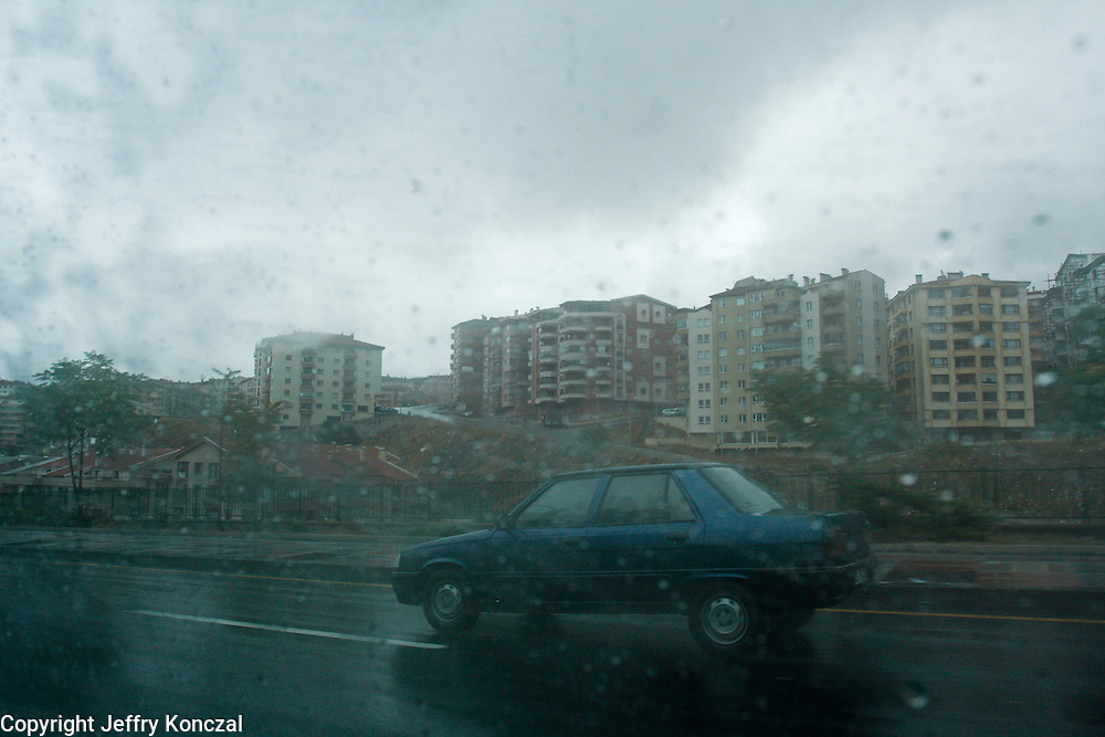 A motorist along a road in Ankara, Turkey