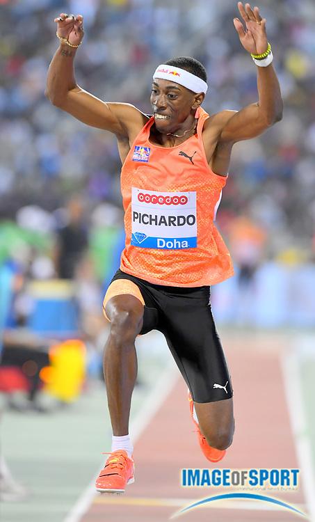 Pedro Pablo Pichardo (CUB) wins the triple jump at 58-10 3/4 (17.95m) in the 2018 IAAF Doha Diamond League meeting at Suhaim Bin Hamad Stadium in Doha, Qatar, Friday, May 4, 2018. (Jiro Mochizuki/Image of Sport)