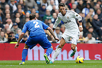 27.01.2013 SPAIN -  La Liga 12/13 Matchday 21th  match played between Real Madrid CF vs Getafe C.F. (4-0) at Santiago Bernabeu stadium. The picture show Mesut Ozil (German midfielder of Real Madrid)