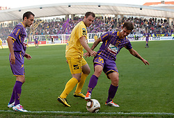 Mitja Zatkovic of Domzale vs Rajko Rep of Maribor during football match between NK Maribor and NK Domzale of 36th - Last Round of 1st Slovenian football league PrvaLiga, on May 29, 2011 in Stadium Ljudski vrt, Maribor, Slovenia. (Photo By Vid Ponikvar / Sportida.com)