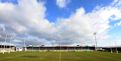 General view of Sandy Park prior to kick off  - Photo mandatory by-line: Harry Trump/JMP - Mobile: 07966 386802 - 14/02/15 - SPORT - Rugby - Aviva Premiership - Sandy Park, Exeter, England - Exeter Chiefs v Newcastle Falcons