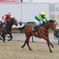 Far Gaze and Loam Jones winning the 3.30 race