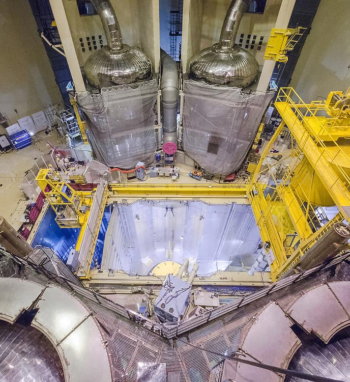 Opérations de maintenance à la centrale nucléaire EDF de Paluel, le 16 juillet 2013.