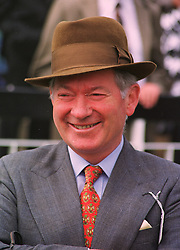 Top trainer BARRY HILLS at a race meeting in Sussex on 31st July 1998.<br /> MJH 54