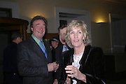 Christopher Simon Sykes and Mr. and Mrs. Simon Elliot. Everyman's Centenary Party. The Fine Rooms. Royal Academy. London. 15 February 2006. dddONE TIME USE ONLY - DO NOT ARCHIVE  © Copyright Photograph by Dafydd Jones 66 Stockwell Park Rd. London SW9 0DA Tel 020 7733 0108 www.dafjones.com