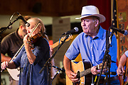 The Steve Anderson Group during the 100th performance of the Abita Springs Opry at Abita Springs Town Hall on September 21, 2019; photo ©2019, George H. Long
