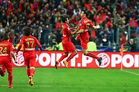 joie Zlatan Ibrahimovic (PSG) et Marquinhos (PSG)
