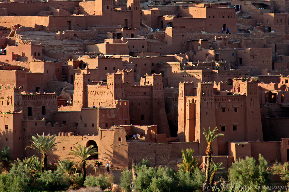 Africa, Morocco, Ouarzazate. Ait Ben Haddou, a UNESCO World Heritage Site and setting for many films.
