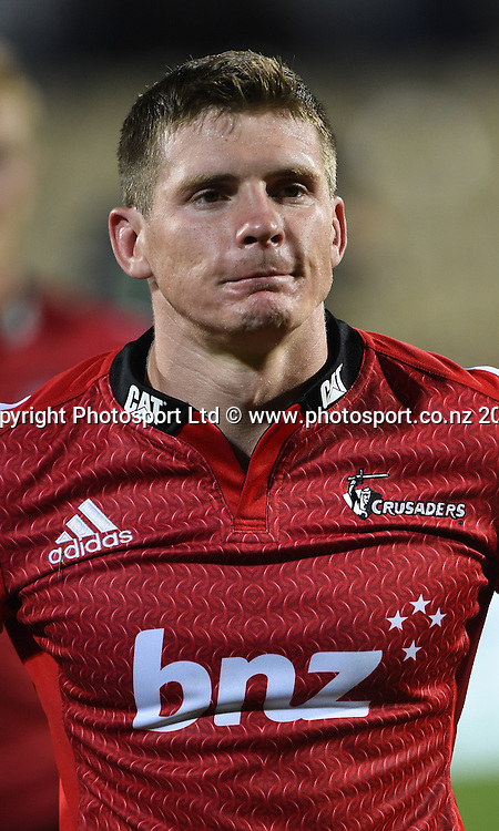Colin Slade. Crusaders v Rebels. Super Rugby. Christchurch, New Zealand. Friday 13 February 2015. Copyright Photo: Andrew Cornaga / www.photosport.co.nz